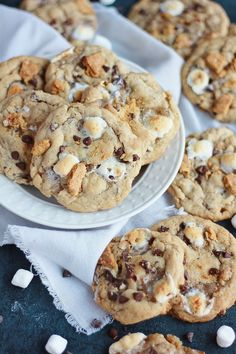 S'mores Cookies - Baking with Blondie