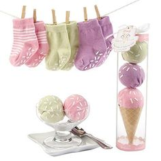 Baby Aspen Sweet Feet Three Scoops Of Socks for Baby Pink