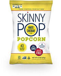 Skinny Pop's White Cheddar Popcorn is VEGAN!!! OMG!!!