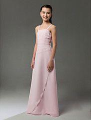 Floor-length Chiffon Junior Bridesmaid Dress - ... – USD $ 59.99