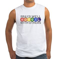 Royal Lion Mens Sleeveless TShirt Prays Well With Others Peace Symbol  Large * You can find more details by visiting the image link.
