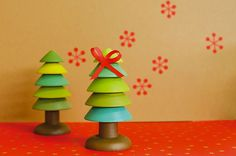 Idée création DIY : Sapin de table de Noël design