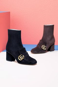 It's a mod, mod world out there, so dress for it with a kiltie boot from #Gucci at Saks.com. #10022Shoe