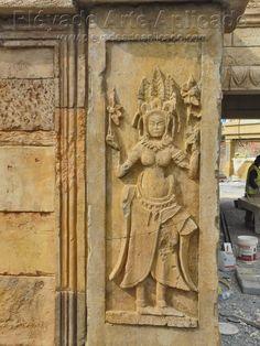 Detalle en la tematización de Angkor en Port Aventura. www.pleyadearteaplicado.com