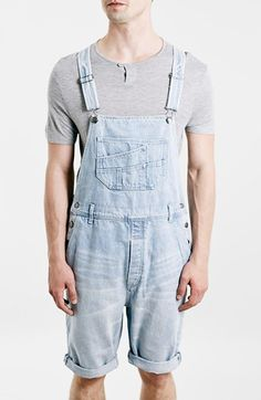 Topman Denim Overall Shorts available at #Nordstrom