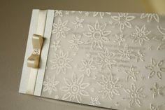 Elegant Silver Wedding Invitation Handmade Invitation by Artivita, €4.80