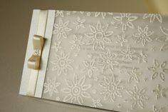 Elegant Silver Wedding Invitation Handmade Invitation by Artivita, €4.80