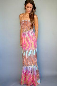 Charlie jade opal print silk maxi dress