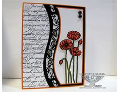 Crafty Colonel using Stampin'Up Pleasant Poppies and Spellbinders Borderabilities