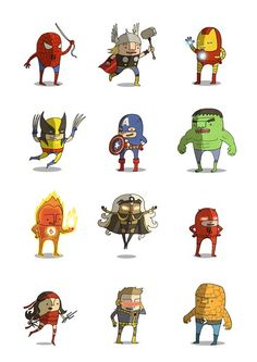 Marvel Heroes by Poder Friki