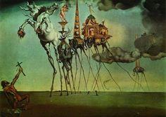 La tentación de San Antonio  Cuadro realizado por el pintor español Salvador Dalí en 1946. El óleo sobre lienzo, de la corriente surrealista, mide 90 x 119,5 cm, - See more at: http://culturacolectiva.com/top-10-las-obras-mas-famosas-del-mundo/#sthash.6bRrtD54.dpuf
