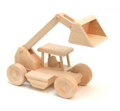 Eco- Friendly Toy Wooden Digger on Hootsmart