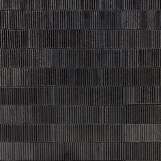 A little texture can go a long way. The Weston Collection is a hand-painted and hand-pressed new series of clay tile that is sure to be the star of your next backsplash or accent wall project. Each piece of Weston Summit contains it's own ribbed textural pattern and unique color variation, meaning that no 2 pieces are exactly the same. Let your inner designer run wild by mixing and matching various colorways for a truly one-of-a-kind custom tiling experience. Color: Silver. Stone Wall Design, Wall Texture Design, Tiles Texture, Stone Tile Texture, Black Tiles, Ceramic Wall Tiles, Porcelain Tile, Style Tile, Macau