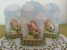 Easter bunny made with Stampin Up two tags