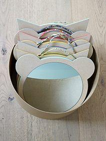 Miroir chat - miroir ours - miroir enfant - miroir en bois - miroir mural - miroir rond - Léonard&Cie - lien liberty