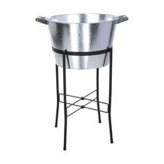 Galvanised Tub On Stand