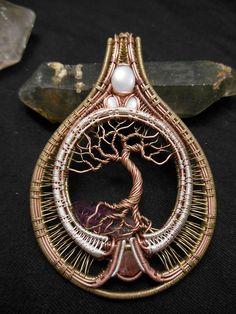 Unique tree of life wire wrap
