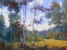 """Ascribe to Her"" - Early autumn in the Boulder Mountains :: by David Mensing - Oil on canvas, 18 x 24"