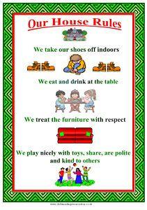 "Childminder/childminding ""House Rules"" Poster | eBay"