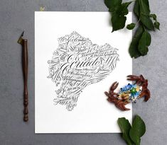 Flourished Calligraphy Country or State Art Tutorial Calligraphy Lines, Calligraphy Course, Flourish Calligraphy, Calligraphy Tutorial, Beautiful Calligraphy, Modern Calligraphy, Design Tutorials, Art Tutorials, Cool Erasers