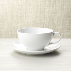 Cappuccino Cup with Saucer - Crate and Barrel