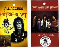 """PETER BLAST & PETER BLAST POWER COMPANY"" Back Stage Passes"