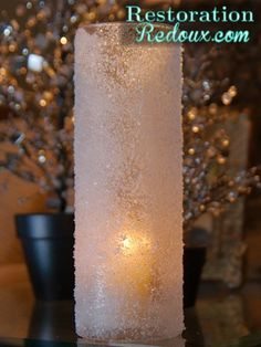 Frosted Candle Holder Tutorial - Restoration Redoux http://www.restorationredoux.com/?p=1722