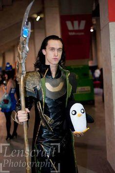 Great Loki Cosplay...with Gunter.   Wenk