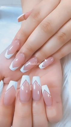 Gold Gel Nails, White Tip Nails, French Manicure Nails, Oval Nails, Pink Nails, Chic Nails, Dope Nails, Stylish Nails, Trendy Nails