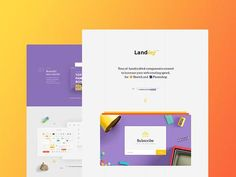 Landing: Free UI kit for Sketch and Photoshop - Design Resources