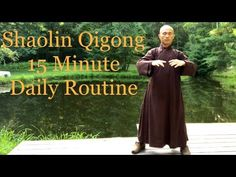 Shaolin Qigong 15 Minute Daily Routine Wim Hof, Tai Chi Qigong, Health Practices, Yoga, Kung Fu, Martial Arts, Routine, Spirituality, Fitness