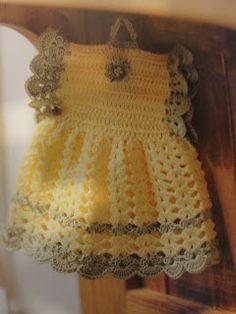 crochet vintage potholder with free pattern