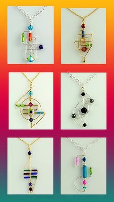 How cool are these?? I don't usually like modern art BUT when it's in the form of jewelry I definitely consider it!