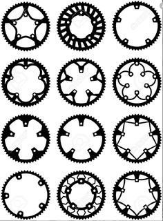 24 best gr2 pattern project gears images gear train gears Prizm Daily Polarized Oakley Colorized find vector pack of bike chainrings and rear sprocket stock vectors and millions of other royalty free stock photos illustrations and vectors in the