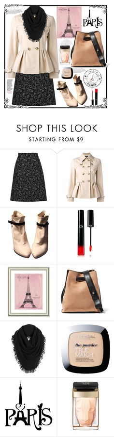 """Parisian heart"" by natalyapril1976 on Polyvore featuring Dolce&Gabbana, Boutique Moschino, Sigerson Morrison, Giorgio Armani, Vintage Print Gallery, Jil Sander, White + Warren, L'Oréal Paris and Cartier"