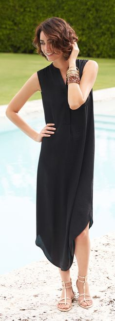 Chico's Black Label Sleeveless Utility Dress. Dress it up (or down) for any occasion.