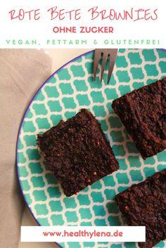 Rote Bete Brownies - klingt verrückt, schmeckt aber unglaublich lecker! Die gesunden Brownies sind vegan, glutenfrei und fettarm!