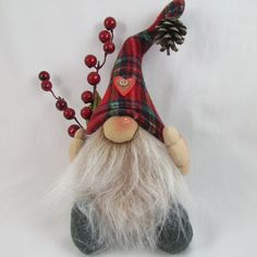 This is Alvin, a grumpy little Gnome looking for a home this Christmas | TheRubyRange via etsy: