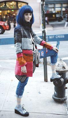 Sita Abellan in the streets of New York.