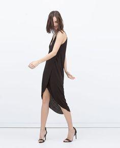 LOW CUT DRESS-Midi-Dresses-WOMAN | ZARA United Kingdom