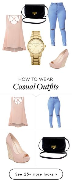 """""""Casual"""" by perla-maria-pineda-de-jesus on Polyvore featuring Glamorous, Jessica Simpson and Topshop"""