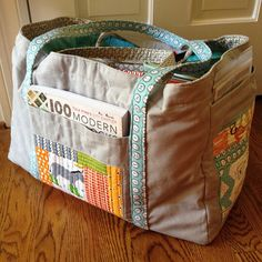 https://flic.kr/p/gaFoiD | Holy amazingness!! Best swap ever! I received this awesome sewing tote from Sarah (Arbonnegirl) I love love love it!! And have already packed it FULL for my mother/daughter retreat this weekend! It holds so much! It's literally a collection of all the fa