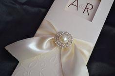 Invitation Ivory whit crystal rhinestone by CREACIONinvitaciones, $4.50