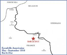 Lafayette Escadrille: Conflict Locations - Bar-le-Duc May-September 1916