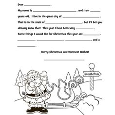 To Santa at the North Pole - Free Christmas Recipes, Coloring Pages for Kids & Santa Letters - Free-N-Fun Christmas Christmas Makes, Christmas Colors, Kindergarten Christmas, Christmas Holidays, Christmas Crafts, Father Christmas, Christmas Printables, Christmas Recipes, Christmas Ideas