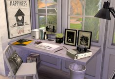 Sims 4 CC's - The Best: Desk & Pictures by Ruby