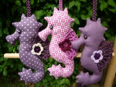 Fabric and Crochet Seahorses