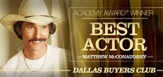 Matthew McConaughey won the Best Actor in a Leading Role for Dallas Buyers Club at Oscar Academy Awards 2014, Academy Award Winners, Jared Leto Movies, Best Actor Oscar, Dallas Buyers Club, Matthew Mcconaughey, Timeline Photos, Movie Tv, Science
