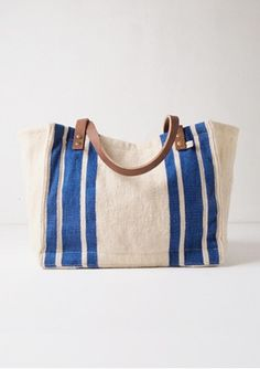 Tote Bag Wool - Blue, perfect catch all bag to lug things to class!  Much better than a bookbag.