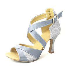 Sapatos de Dança ( Preto/Azul/Vermelho/Prateado/Outro ) - Mulheres - Customizáveis - Tipo de Tênis/Latim/Salsa – EUR € 29.99